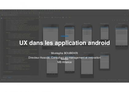 Slides sur l'UX design